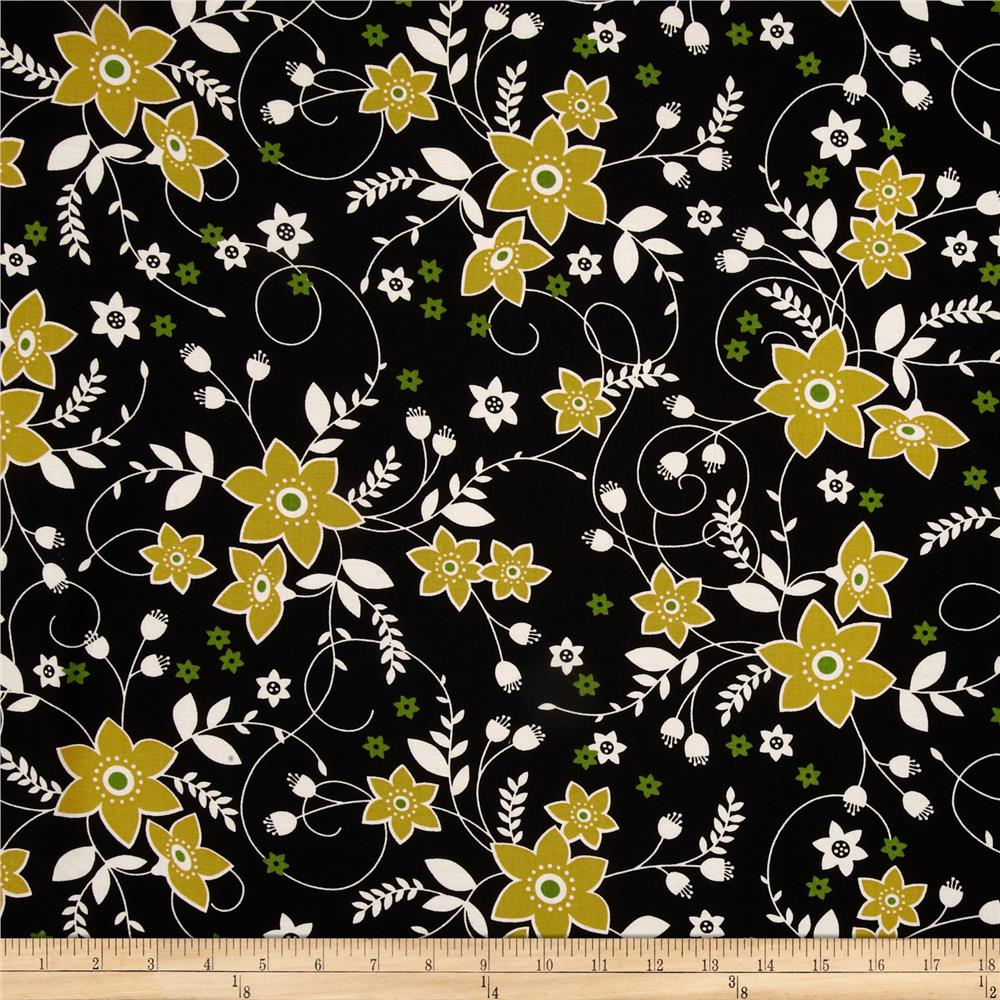 Bella Floral Black/Gold