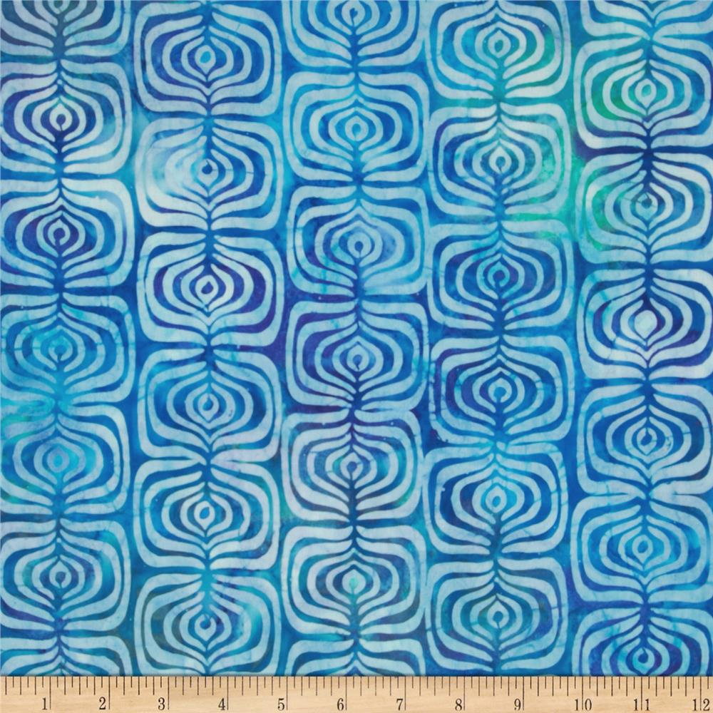Indonesian Batiks Pop Art Stripe Blue