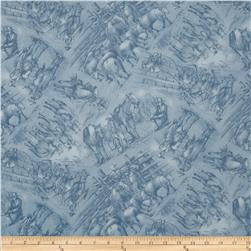 Red River III Cowboy Toile Blue