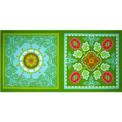 Michael Miller Garden Party Garden Bandana Pillow Panel Aqua