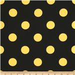 Caymans Indoor/Outdoor Polka Dot Black/Yellow