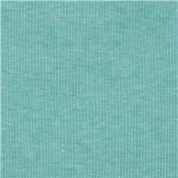Cotton Rib Knit Light Turquoise