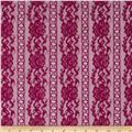 Stretch Fashion Lace Wine