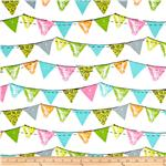 0269032 Michael Miller Party Bunting Aqua