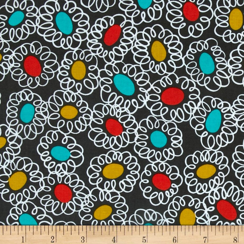 Michael Miller Wallflower Squiggle Bits Grey