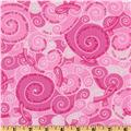 Pink Ribbon Words Of Support Swirl Pink
