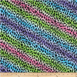 Cotton Rib Knit Tie Dyed Leopard Multi