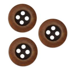 Fashion Button 5/8'' Tidewater Brown/Black