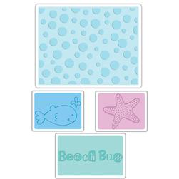 Sizzix Textured Impressions Embossing Folders 4 Pack-Summer Set