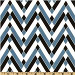 Greenfield Hill Voile Diamond Chevron Blueberry