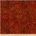 Artisan Batiks Elementals Geos Bubble Strings Orange