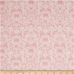 Rebecca's Rose Damask White/Light Pink