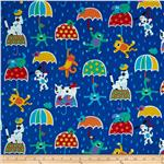 0289701 Timeless Treasures Raining Cats &amp; Dogs Blue