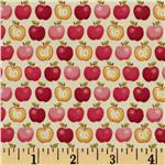 203483 Funky Fruit Apples Cream/Red