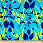 0281911 Tina Givens Opal Owl Flannel Magical Forest Blue