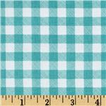 205646 Riley Blake Polka Dot Stitches Gingham Blue