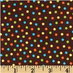 A Fun Day In The Jungle Mini Dot Chocolate/Blue