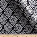 Charmeuse Satin Classic Damask Black/Snow