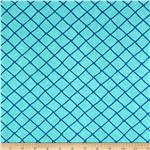 Moda Seascapes Nautical Trellis Caribbean Blue