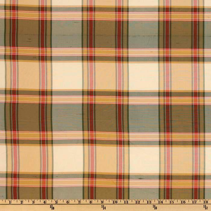 Leta Dupioni Silk Check Black Cherry
