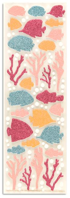 Martha Stewart Crafts Glitter Tropical Fish &amp; Coral Stickers