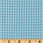 Woven 1/8&#39;&#39; Gingham Turquoise
