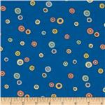 0286608 Peek A Boo Flannel Dots Blue