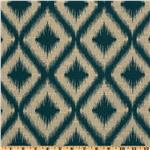 UK-173 Robert Allen Woven Jacquard Ikat Fret Tourmaline