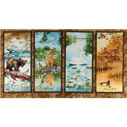 Four Seasons Wee Wild Life Panel Large Frames Brown