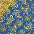 St. Croix Double-Sided Quilted Paisley Yellow/Blue