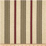 0287108 Premier Prints Terrace Stripe Khaki/Red