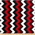 Riley Blake Laminate Medium Chevron Red/Black