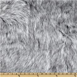 Faux Fur Wolf White/Grey