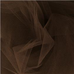 108'' Wide Nylon Tulle Chocolate