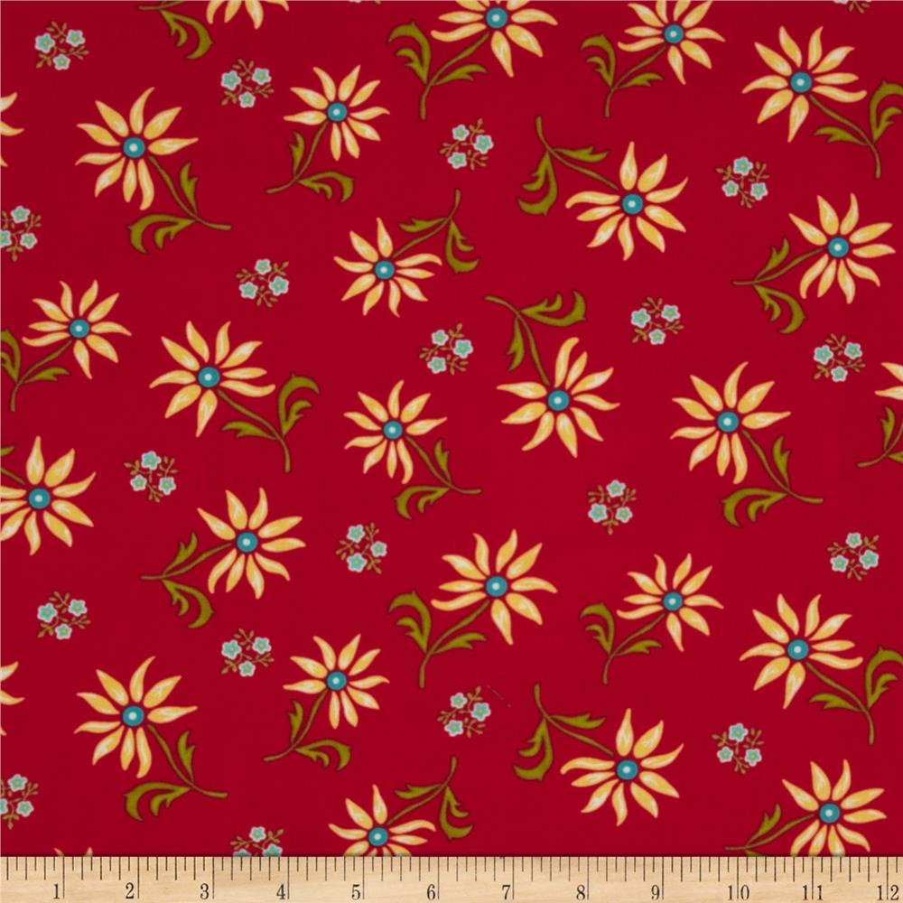 Summer House Floral Red
