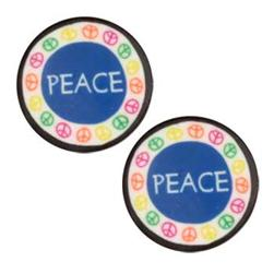 Novelty Button 3/4'' Peace Multi
