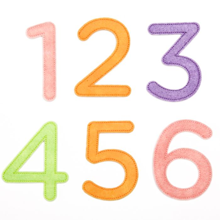 Martha Stewart Crafts Stickers Pastel Felt Numbers