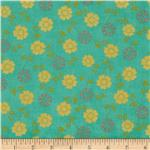 Summer House Small Floral Aqua