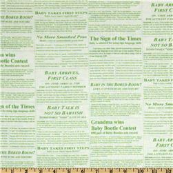 Baby Business Newspaper Green