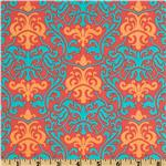 Vintage Vogue Large Damask Red
