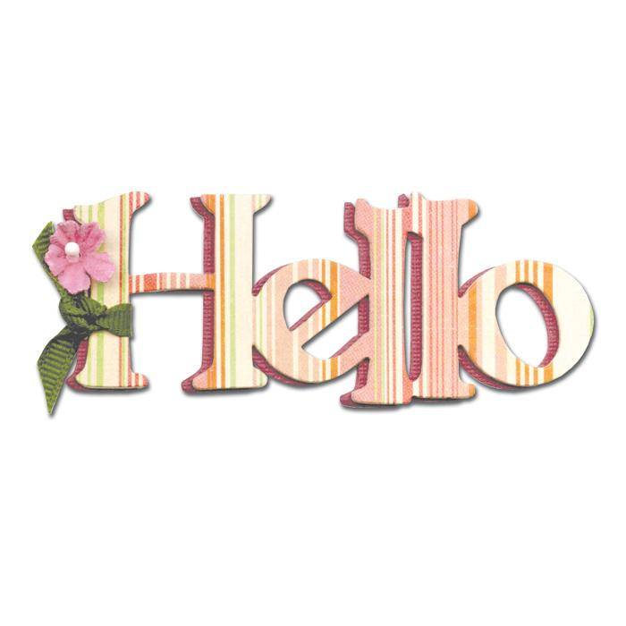 Sizzix Originals Die Phrase, Hello Medium