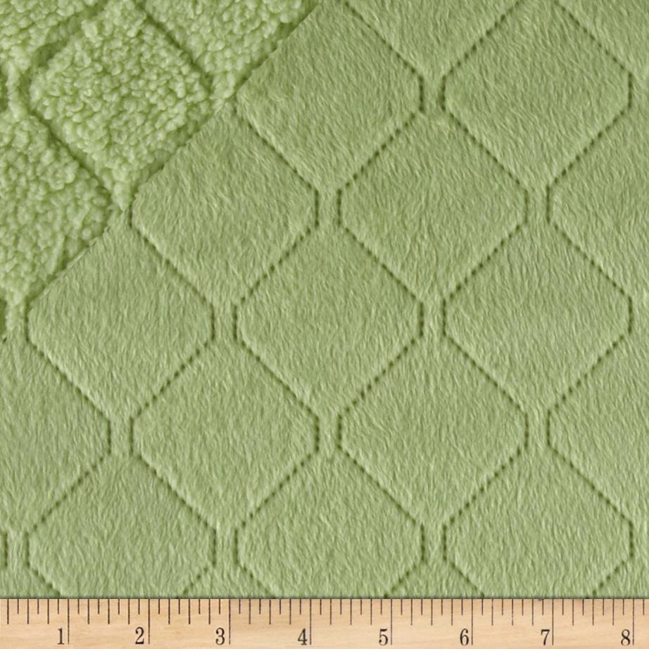 Minky Cuddle Diamond Quilted Spring Green