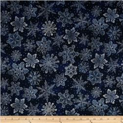 Holiday Accents Classics 2013 Metallic Large Snowflake Navy
