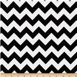 Riley Blake Chevron Small  Black/White