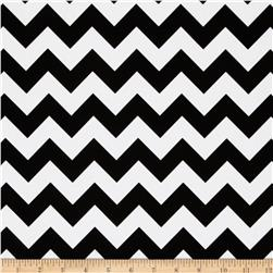 Riley Blake Cotton Jersey Knit Chevron Small Black/White