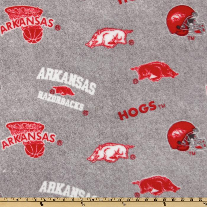 Collegiate Fleece University Of Arkansas All Over Heather Grey