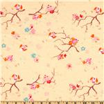 Camelot Flannel Songbirds Eggshell