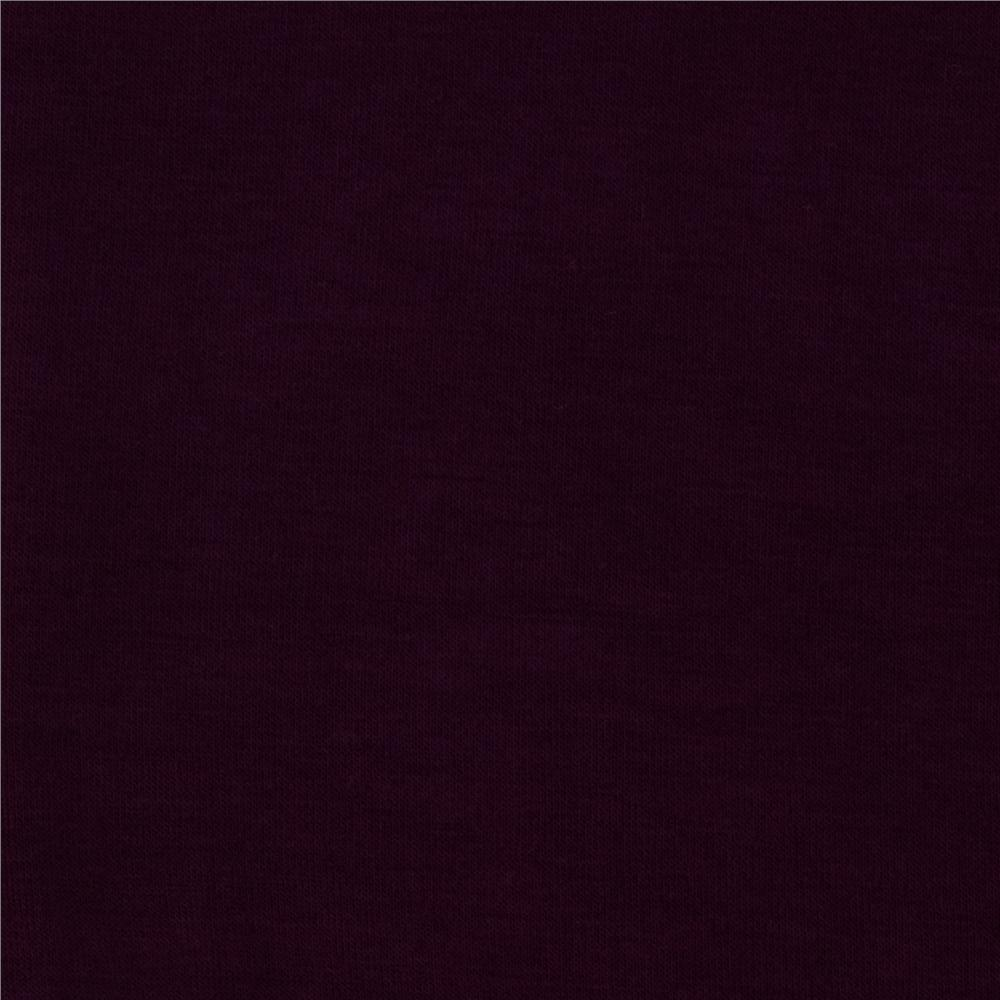 Belleza Stretch Rayon Jersey Knit Plum