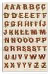 EKR-546 Martha Stewart Crafts Stickers Log Style Alphabet Letters