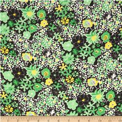 Chiffon Floral Green/Yellow